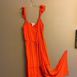 Forever 21 NWT SIZE 2x orange maxi dress